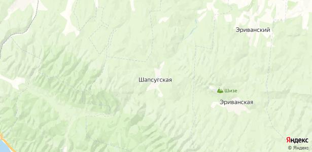 Шапсугская на карте