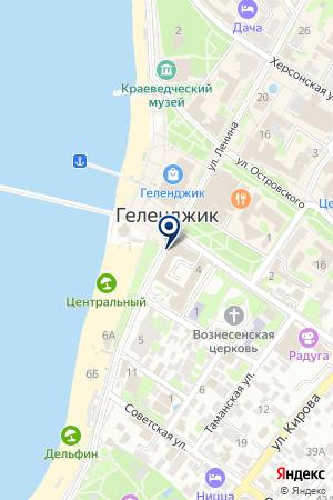 Администрация муниципального образования города-курорта Геленджик на карте Геленджика