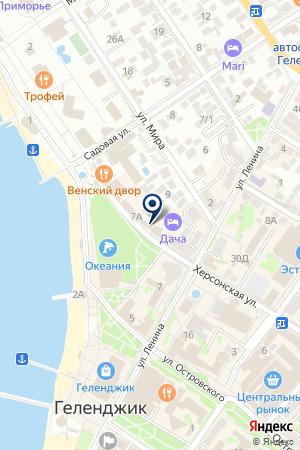 Сундук на карте Геленджика