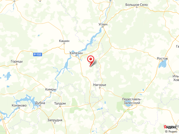 деревня Мининская на карте