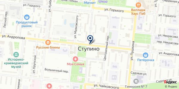 КАРТА-МАСТЕР на карте Ступино