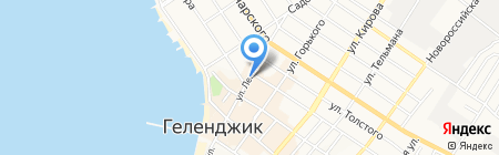 Церковная лавка на ул. Ленина на карте Геленджика