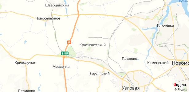 Краснолесский на карте
