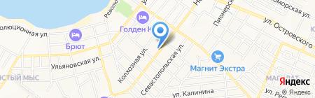 Гостевой дом Рассказова на карте Геленджика