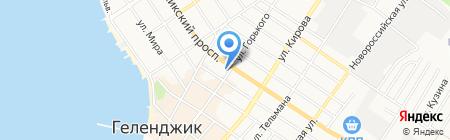 На Горького на карте Геленджика