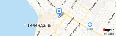 Автостоянка на карте Геленджика