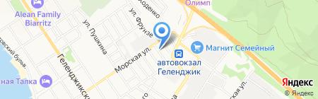 Студио На Фрунзе на карте Геленджика