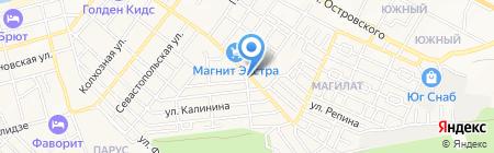 Продуктовый магазин на ул. Черняховского на карте Геленджика