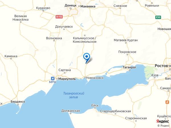 село Александровское на карте