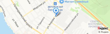 Автомойка на Кирова на карте Геленджика