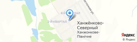 Магазин одежды на ул. Гагарина на карте Ханжёнково-Северного