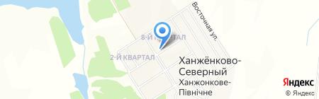 Отделение связи №43 на карте Ханжёнково-Северного