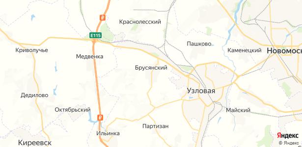 Брусянский на карте
