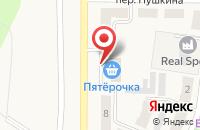 Схема проезда до компании Пятёрочка в Брусянском