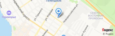 Геленджик-снаб на карте Геленджика