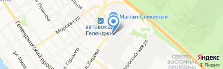 Чебуречная на Кирова на карте Геленджика
