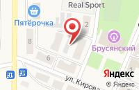 Схема проезда до компании ЖЭУ №14 в Брусянском