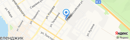Золотой ключ на карте Геленджика