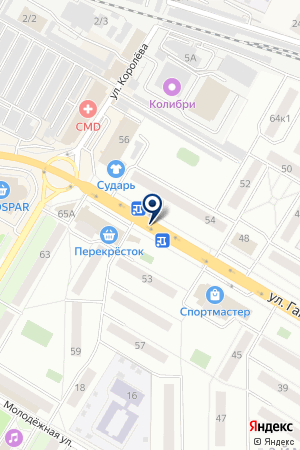 АЗС СИБНЕФТЬ на карте Жуковского