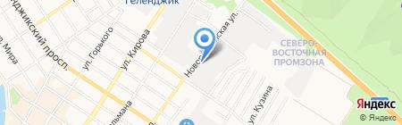 Магазин-склад облицовочного камня на Новороссийской на карте Геленджика