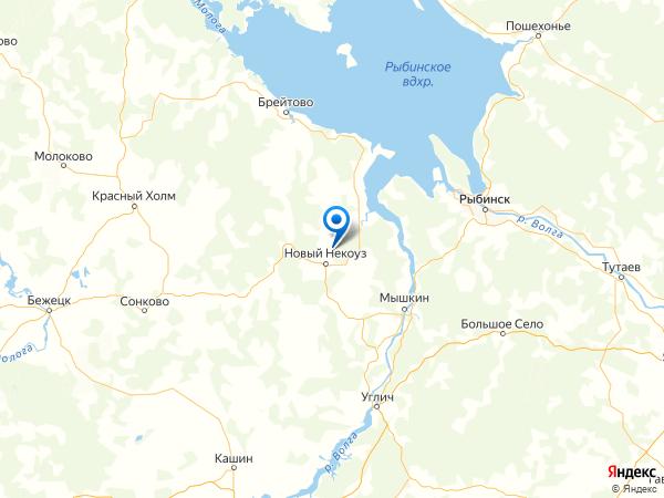 деревня Котово на карте