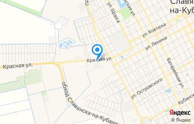 Местоположение на карте пункта техосмотра по адресу Краснодарский край, г Славянск-на-Кубани, ул Красная, д 143