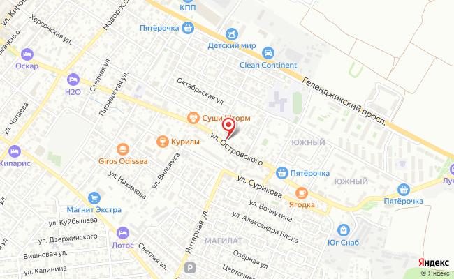 Карта расположения пункта доставки Доставка-Геленджик в городе Геленджик