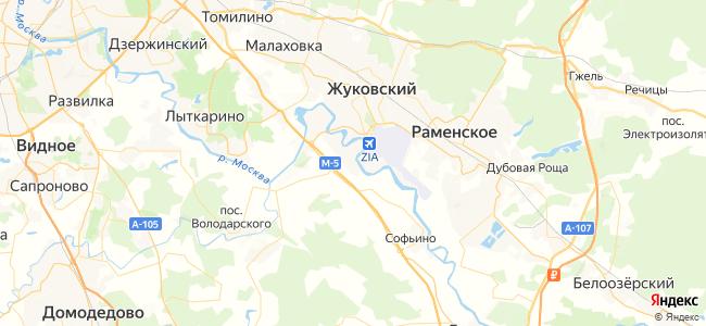 Хостелы Раменского - объекты на карте