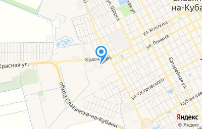 Местоположение на карте пункта техосмотра по адресу Краснодарский край, г Славянск-на-Кубани, ул Красная, д 141/1