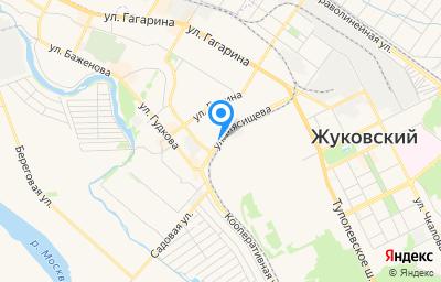 Местоположение на карте пункта техосмотра по адресу Московская обл, г Жуковский, ул Мясищева, д 11