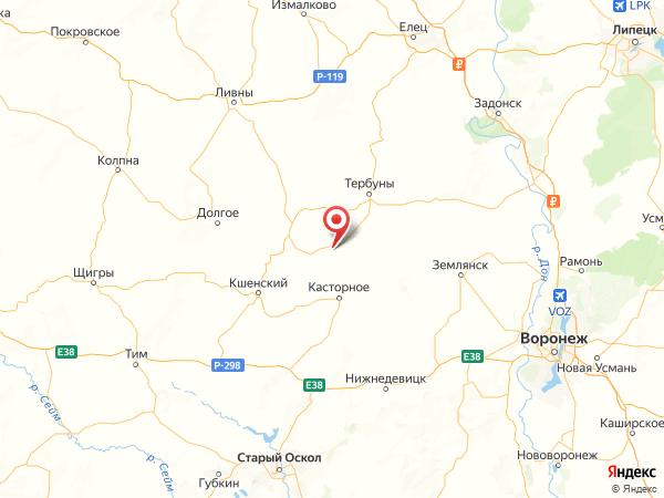 деревня Воздвиженка на карте