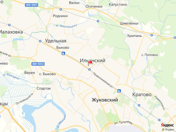 Карта город Ильинский