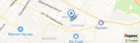 Автомойка на ул. Маяковского на карте Геленджика