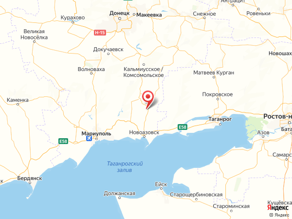 село Белокриничное на карте