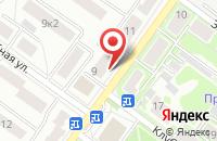 Схема проезда до компании НПО ТЕХПРОМ в Жуковском