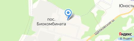 Биокомбинатовская средняя общеобразовательная школа на карте Биокомбината
