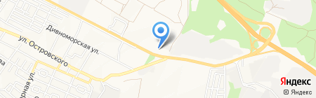 Мангуст на карте Геленджика