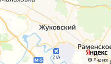 Отели города Жуковский на карте