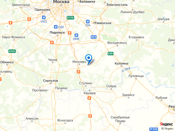 деревня Дубнево на карте
