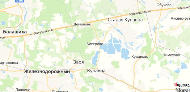 Бисерово на карте