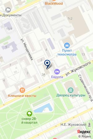 ПРОФЕССИОНАЛЬНОЕ УЧИЛИЩЕ № 117 на карте Жуковского