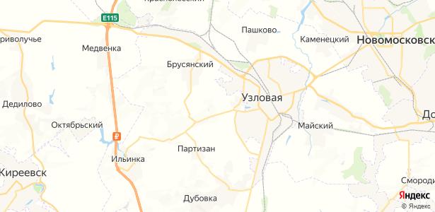 Хитрово на карте