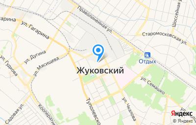 Местоположение на карте пункта техосмотра по адресу Московская обл, г Жуковский, ул Чкалова, д 49 к 1