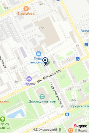 ЖУКОВСКОЕ ОТДЕЛЕНИЕ на карте Жуковского
