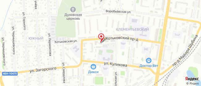 Карта расположения пункта доставки Сергиев Посад Хотьковский в городе Сергиев Посад
