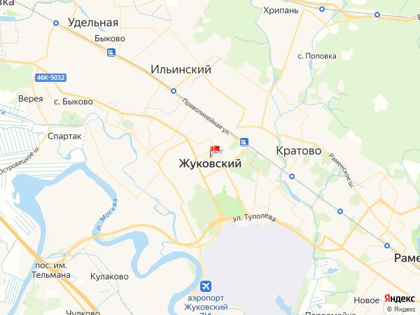 Карта город Жуковский