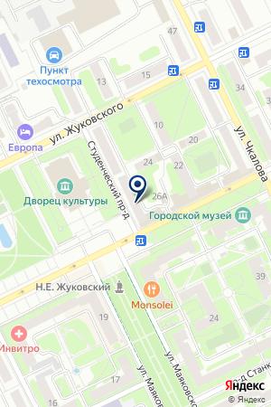 МАГАЗИН ПРОМТОВАРЫ на карте Жуковского