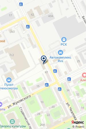 АВТОКОЛОННА № 1376 на карте Жуковского