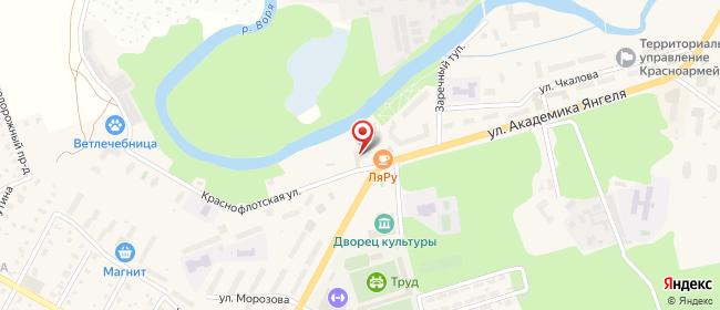 Карта расположения пункта доставки Красноармейск Чкалова в городе Красноармейск