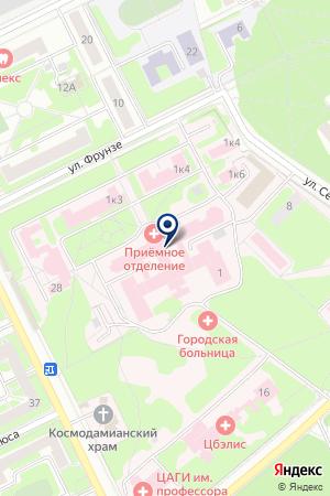 ЖУКОВСКАЯ СТАНЦИЯ СКОРОЙ МЕДИЦИНСКОЙ ПОМОЩИ на карте Жуковского